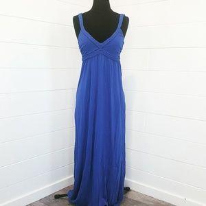 Forever 21 Royal Blue Maxi Braided Straps Dress